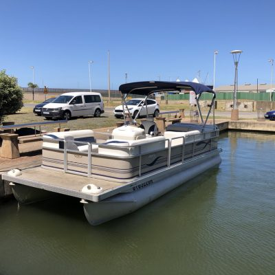 2005 Harris 220 Cruise Pontoon - 2006 suzuki 115 hp-1